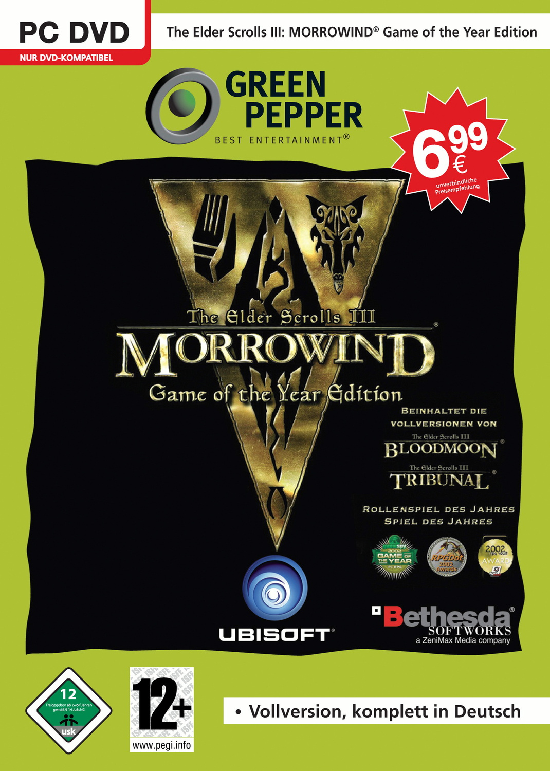 Elder Scrolls 3-Morrowind GOTY (JC) Game of the...