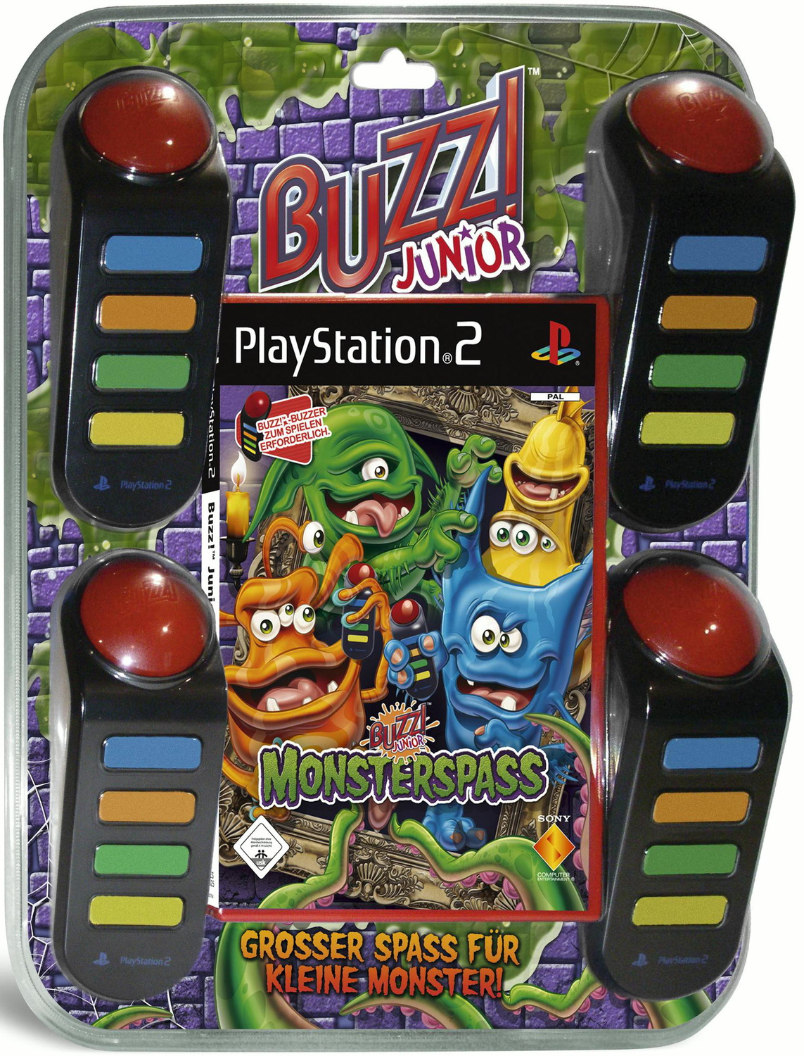 Buzz! Junior: Monsterspaß + 4 Buzzer