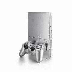 Sony PlayStation 2 slim [inkl. Controller] silber