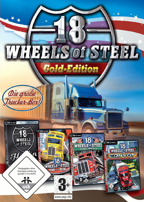18 Wheels of Steel: Gold-Edition Flap-Box