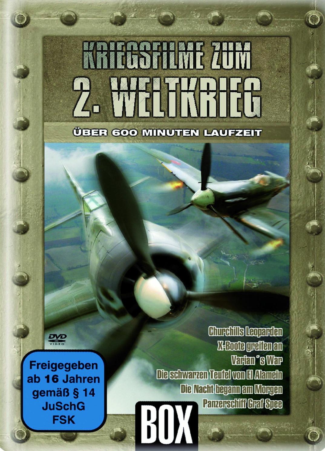 Kriegsfilme zum 2. Weltkrieg (Metallbox)