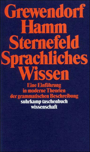 Sprachliches Wissen. Eine Einführung in moderne...