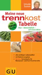 Meine neue trennkost-Tabelle . Summ-Reihe: Klar - übersichtlich - auf einen Blick. Alle wichtigen Lebensmittel, mit Kalo