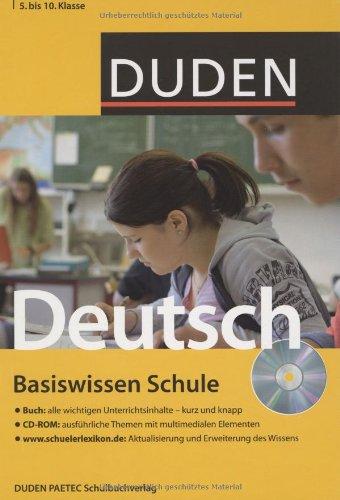 Duden. Basiswissen Schule. Deutsch 5. bis 10. Klasse: Buch / CD-ROM / Internet - Simone Felgentreu