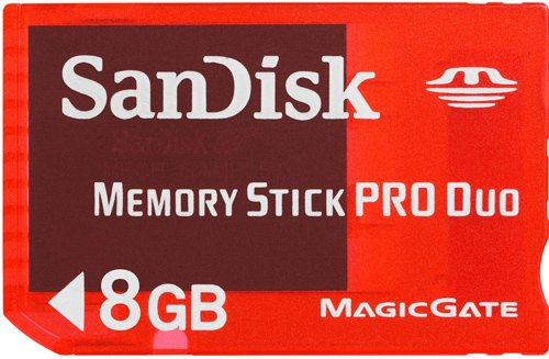 Memory Stick Pro Duo Sandisk 8GB Gaming