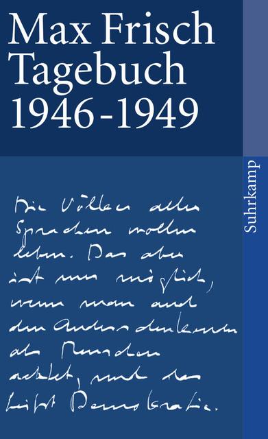 Tagebuch 1946-1949 - Max Frisch