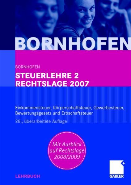 Steuerlehre 2, Lehrbuch - Manfred Bornhofen