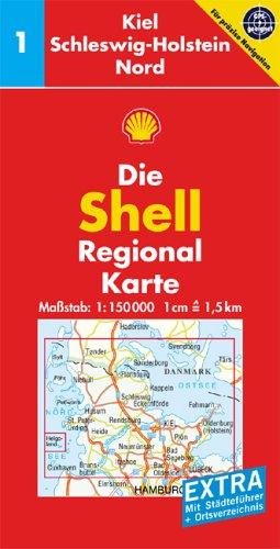 Shell Regionalkarte Deutschland 01. Kiel, Schle...