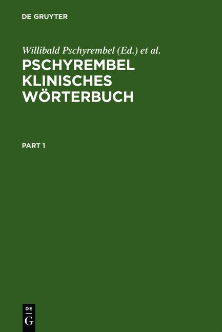 Pschyrembel Klinisches Wörterbuch. Mit klinisch...
