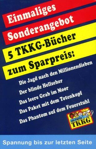 TKKG Taschenbücher - Band 1-5: Die Jagd nach den Millionendieben / Der blinde Hellseher / Das leere Grab im Moor / Das P