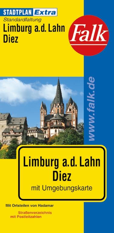 Falk Stadtplan Extra Standardfaltung Limburg a. d. Lahn / Diez mit Ortsteilen von Hadamar