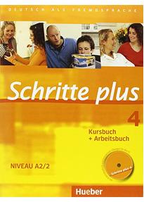 Schritte plus 4: Deutsch als Fremdsprache - Kursbuch + Arbeitsbuch - Niveau A2/2 - Silke Hilpert [inkl. 3 CDs]