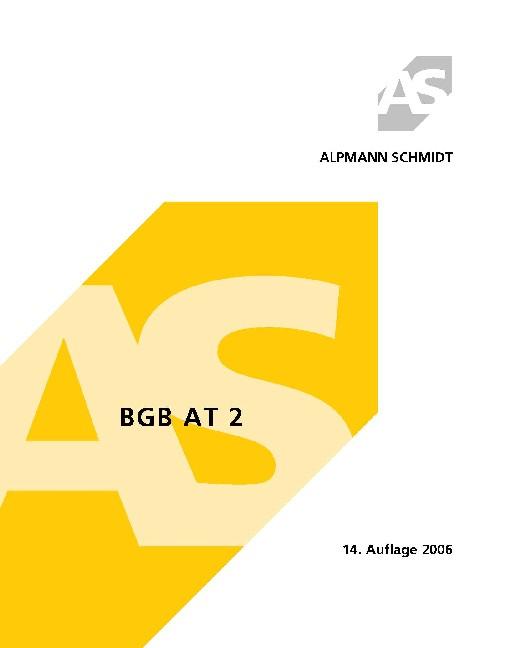 BGB AT 2 - Josef A. Alpmann