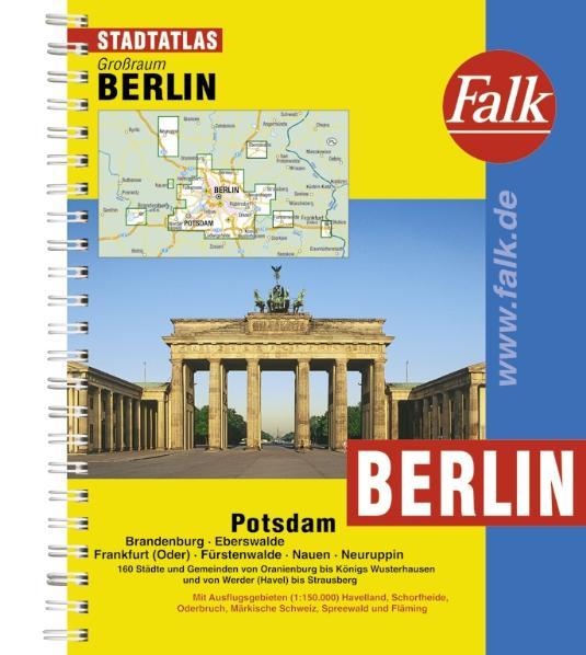 Falk Stadtatlas Großraum Berlin, Potsdam,