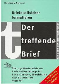 Der Treffende Brief Briefe Stilsicher Formulieren Reinhard Von
