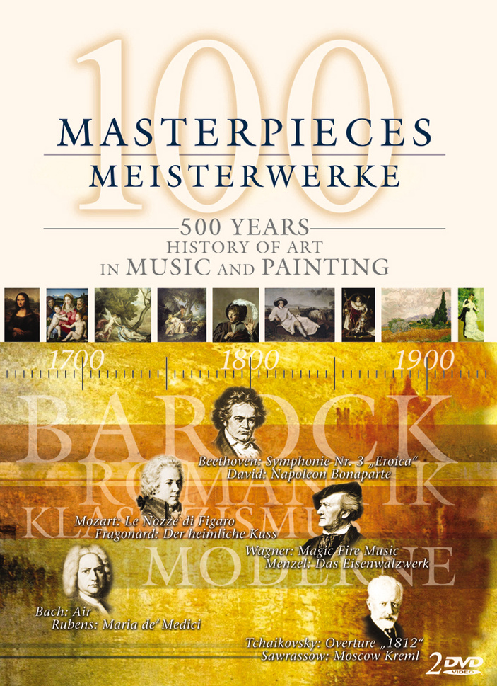100 Masterpieces - 500 Years: History of Art in Music and Painting (2 DVDs)