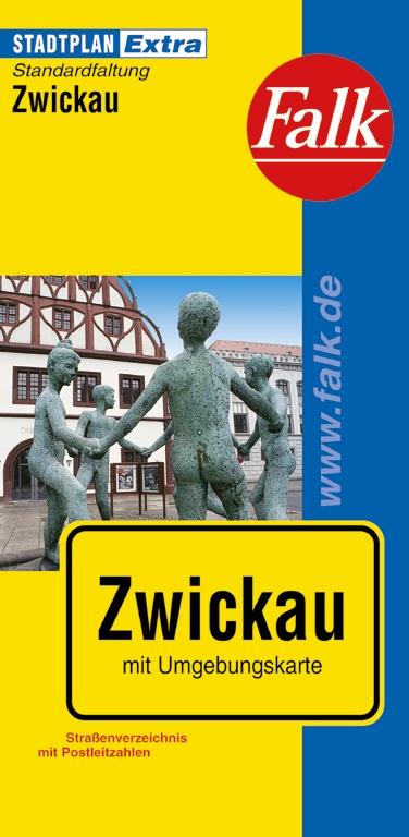 Falk Stadtplan Extra Standardfaltung Zwickau