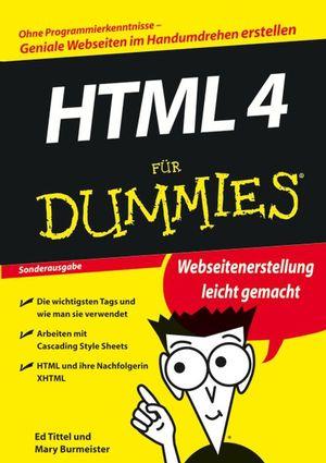 HTML 4 für Dummies: Ohne Programmierkenntnisse-...