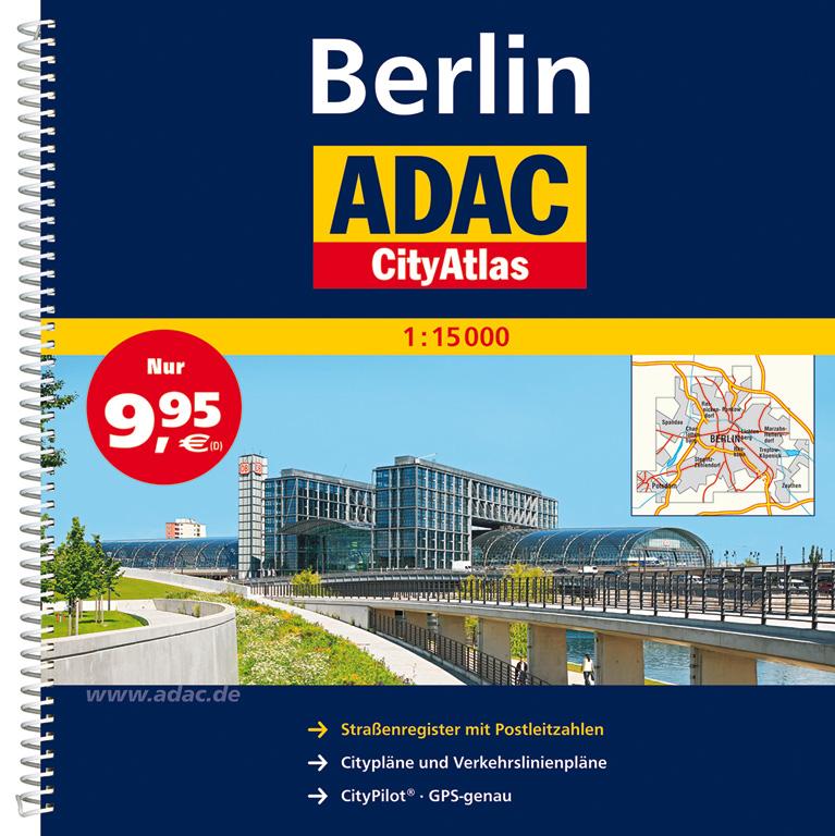 ADAC CityAtlas Berlin 1 : 15 000: Mit vergrößer...