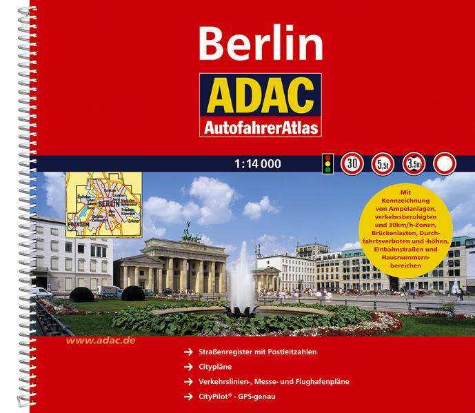 ADAC AutofahrerAtlas Berlin 1:14 000 - ADAC Kar...