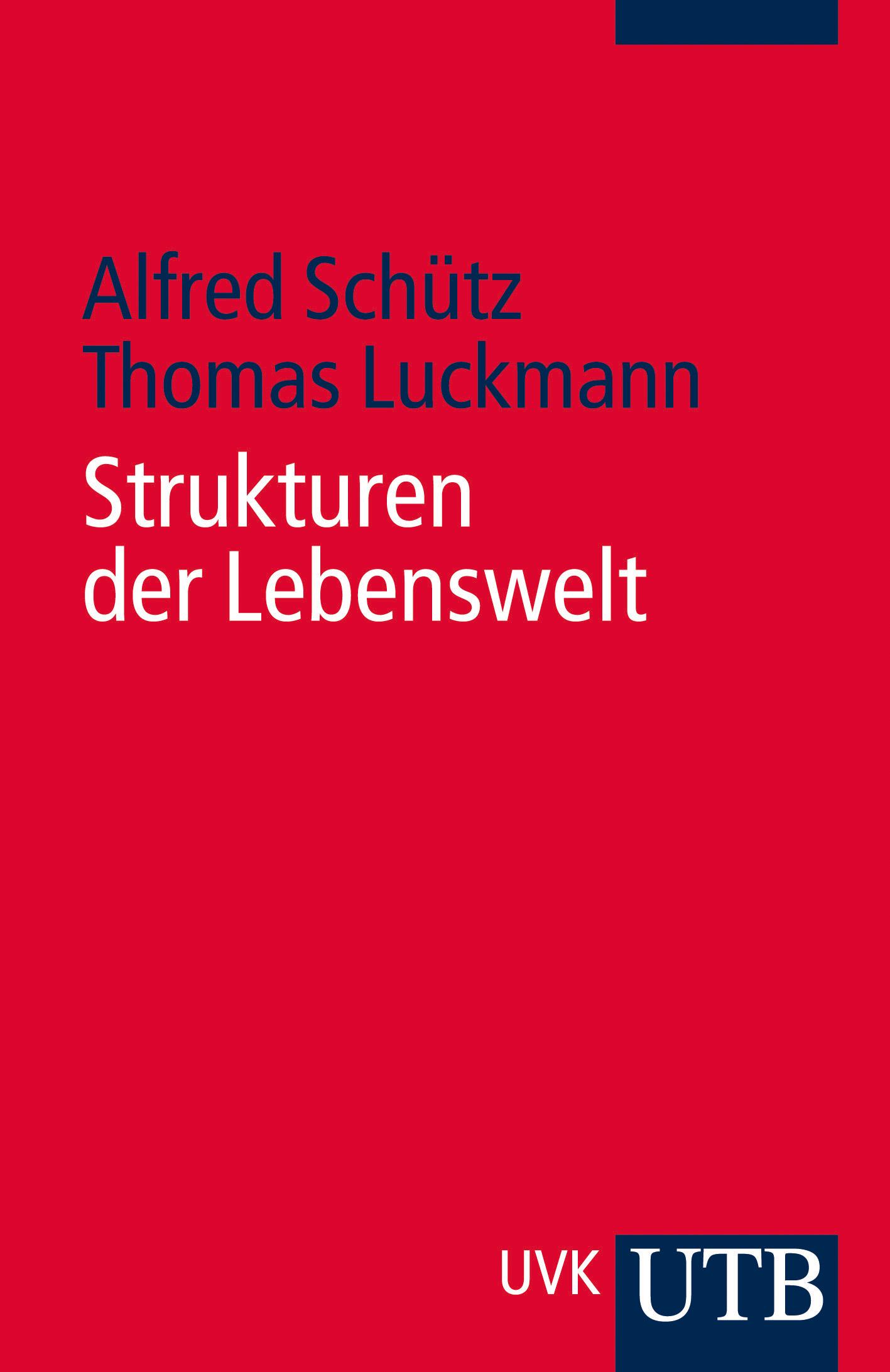 Strukturen der Lebenswelt (Uni-Taschenbücher S) - Thomas Luckmann