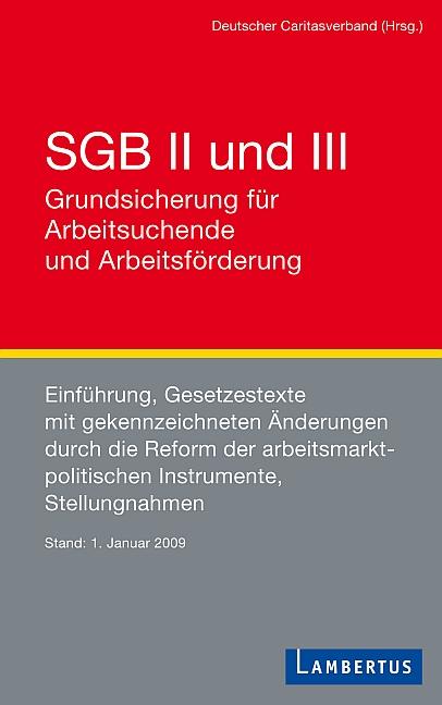 SGB II und III Grundsicherung für Arbeitssuchende und Arbeitsförderung: Einführung, Gesetzestexte mit gekennzeichneten Änderungen durch die Reform ... Stellungnahmen Stand 1. Januar 2009