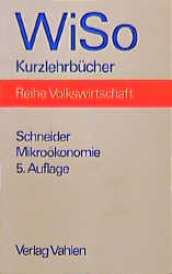 Mikroökonomie - Helmut Schneider
