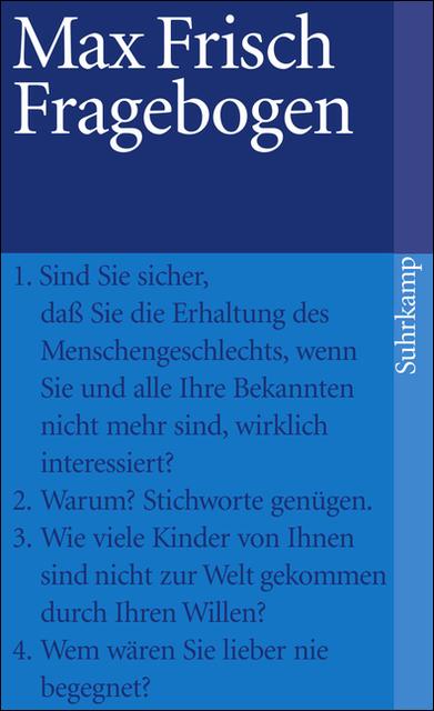 Fragebogen (suhrkamp taschenbuch) - Max Frisch