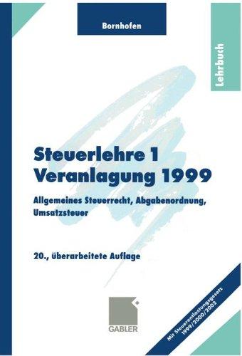 Steuerlehre 1, Lehrbuch - Manfred Bornhofen