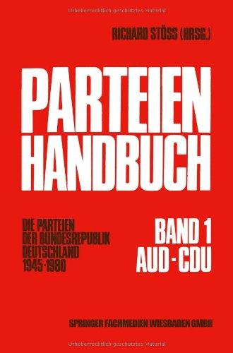 Parteien - Handbuch. Die Parteien der Bundesrep...