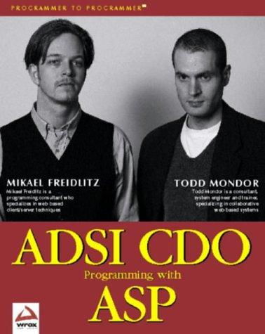 ADSI CDO Programming with ASP (Programmer to Programmer) - Mikael Freidlitz