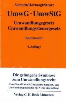 Umwandlungsgesetz, Umwandlungssteuergesetz - Joachim Schmitt