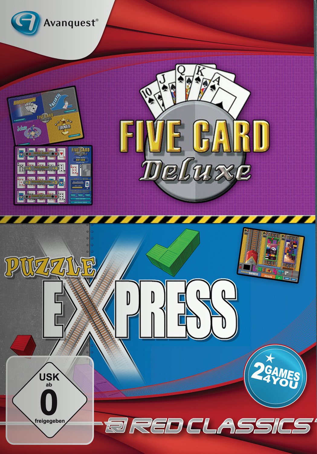 Red Classics: 5 Card Deluxe & Puzzle Express