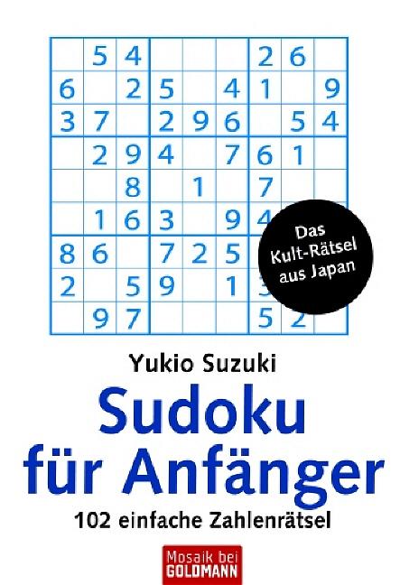 Sudoku für Anfänger: 102 einfache Zahlenrätsel:...