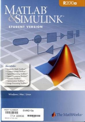 MATLAB & SIMULINK Student Version R2010a, DVD-R...