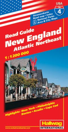 Hallwag USA Road Guide, No.4, New England: Atla...
