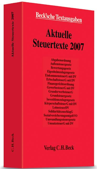 Aktuelle Steuertexte 2007