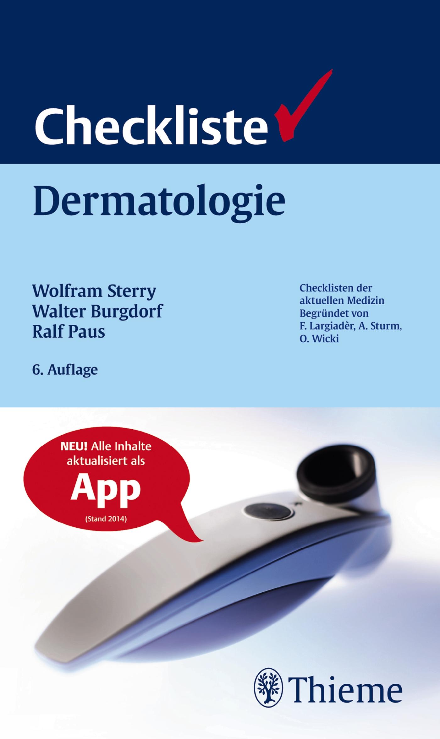 Checkliste Dermatologie: Venerologie, Allergologie, Phlebologie, Andrologie - Wolfram Sterry