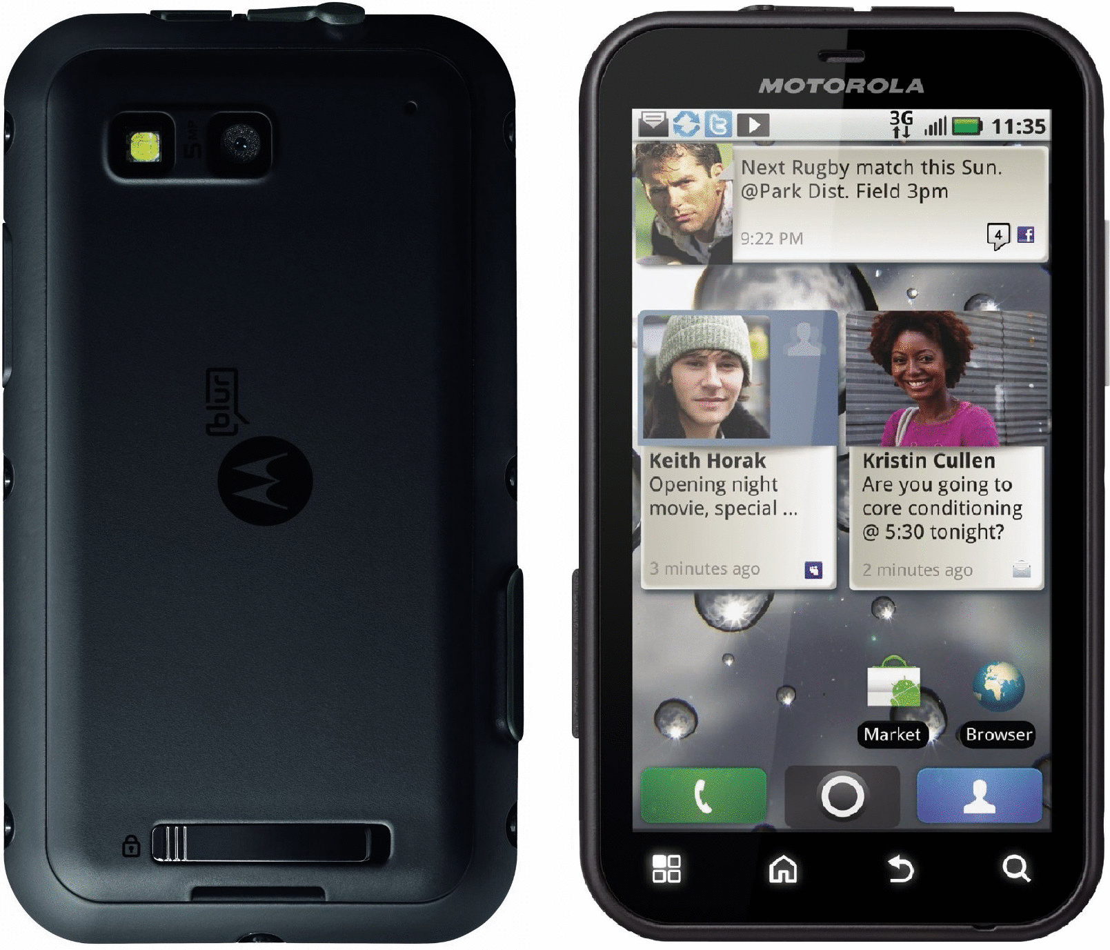 Motorola Defy schwarz