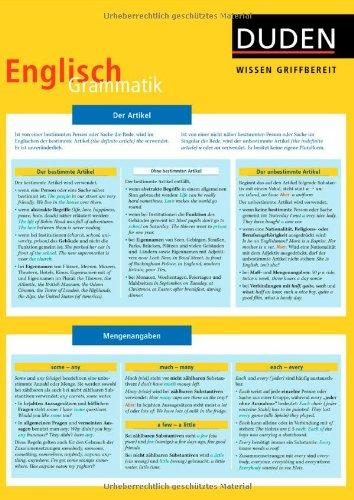 Duden Wissen griffbereit. Englisch Grammatik