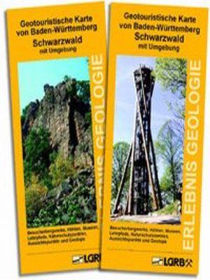 Geotouristische Karte von Baden-Württemberg - S...