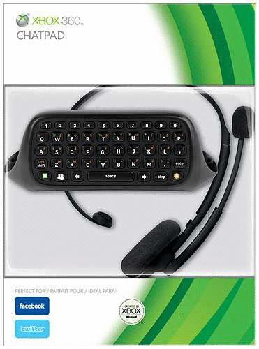 Microsoft XBox 360 Keyboard Messenger Kit schwarz