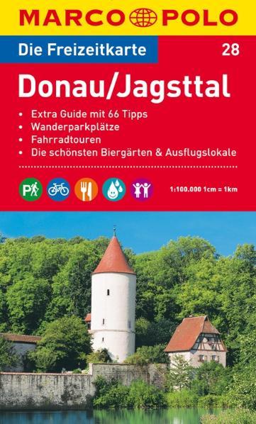 MARCO POLO Freizeitkarte 28 Donau / Jagsttal 1 : 100 000: Extra Guide mit 66 Tipps. Wanderparkplätze. Fahrradtouren. Die schönsten Biergärten und Ausflugslokale