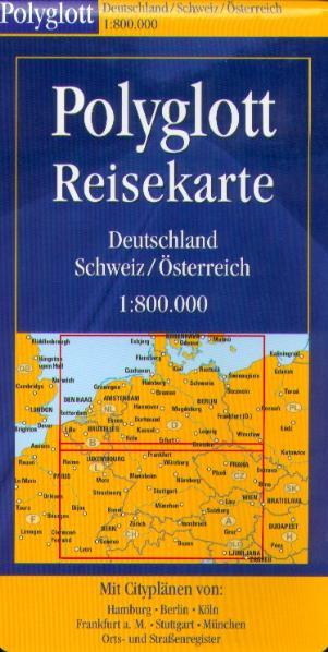 Polyglott Reisekarten, Deutschland, Schweiz, Ös...