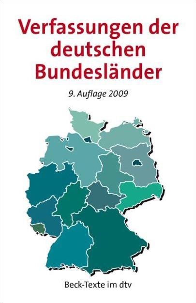 Verfassungen der deutschen Bundesländer: mit de...