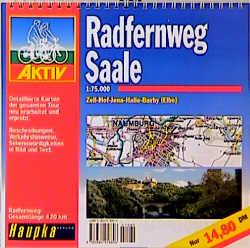 Geführte Radtouren: Radfernweg Saale 1 : 75 000.