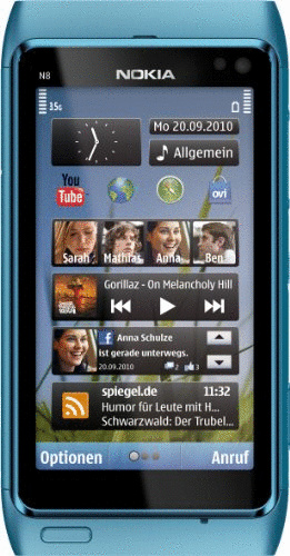 Nokia N8 blau