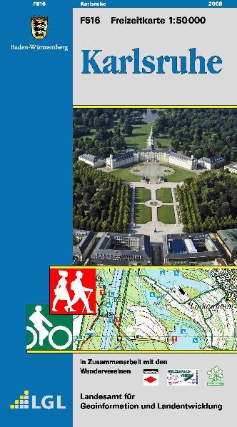 Karlsruhe - Freizeitkarte 1 : 50 000 - Landesam...