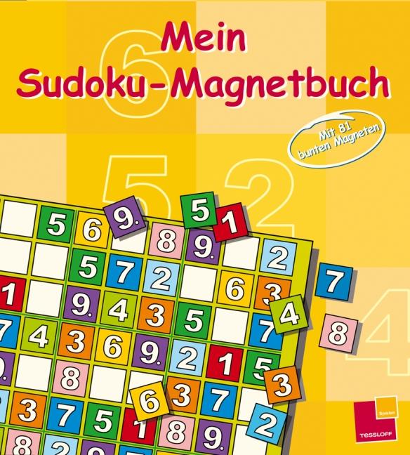 Mein Magnet-Sudoku. Mit 81 bunten Magneten. - O...