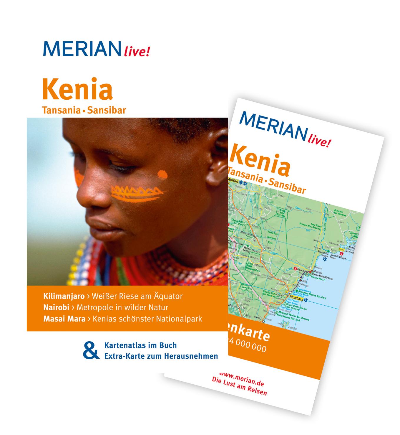 Kenia Tansania Sansibar: MERIAN live! - Mit Kartenatlas im Buch und Extra-Karte zum Herausnehmen: Kilimanjaro: Weißer Riese am Äquator. Nairobi: ... Masai Mara: Kenias schönster Nationalpark - Marc Engelhardt